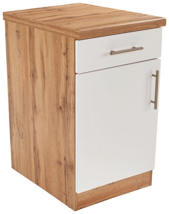 Küchenunterschrank stella us50 eichefarben weiß holzwerkstoff 50 86 57cm