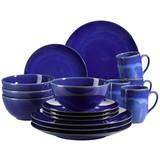 Kombiservice Ossia 16-Tlg - Dunkelblau, Basics, Keramik (37,7/35,7/37,5cm)
