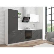 Küchenleerblock Promo 270 cm Weiss/Grau - Weiß/Grau, KONVENTIONELL, Holzwerkstoff (270cm)