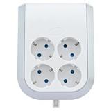 Steckdosenelement Multi Power 4-f - Hellgrau/Weiß, KONVENTIONELL, Kunststoff (13/15,8/6cm)