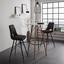 Barová Stolička Durham - hnedá/biela, Moderný, kov/drevo (48,5/111,5/55cm)