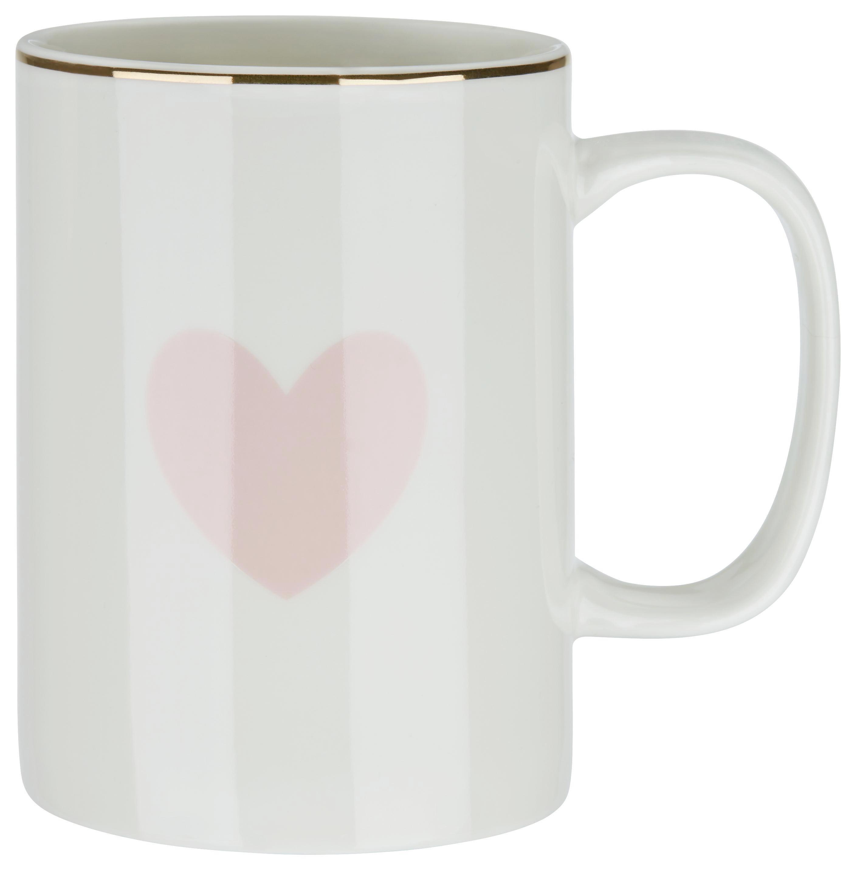 Hrnek Na Kávu Bibi - bílá/růžová, Romantický / Rustikální, keramika (7,9/10,8cm) - MÖMAX modern living