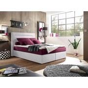 Boxspringbett Cardiff 1 ca. 140x200 cm - Weinrot/Weiß, Trend, Holzwerkstoff/Textil (140/200cm) - Carryhome