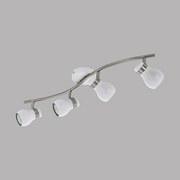 LED-Deckenleuchte Arboledas - Weiß/Nickelfarben, MODERN, Metall (10,5/65cm)