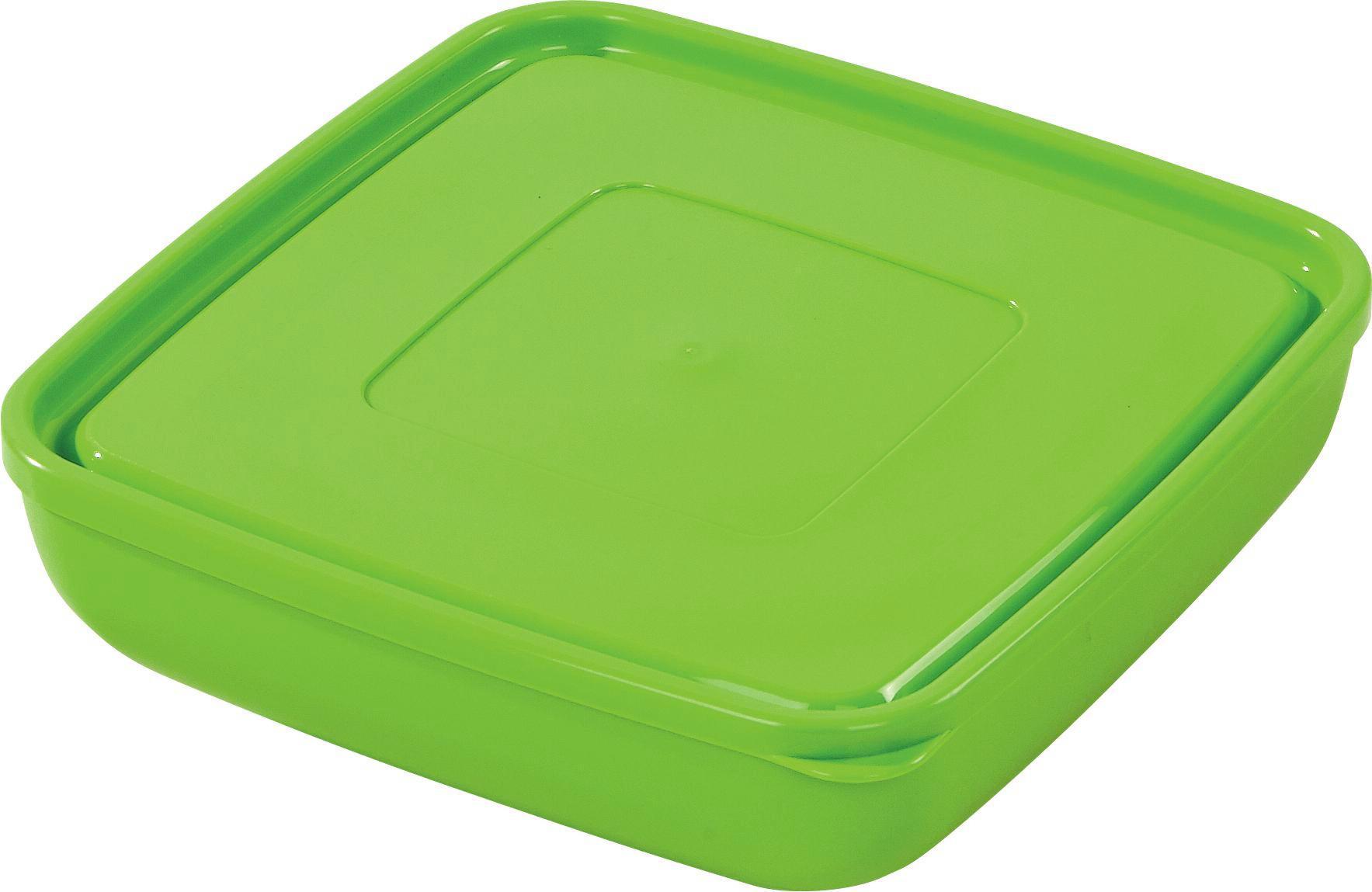 Tárolóedény Ines - krém/szürke, konvencionális, műanyag (20/6,3cm) - OMBRA