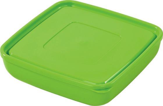 Tárolóedény Ines - Krém/Zöld, konvencionális, Műanyag (20/6,3cm) - Ombra