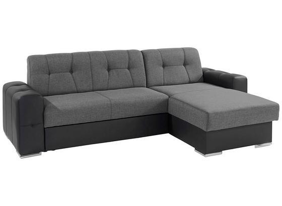 Sedací Souprava Fulton - černá/tmavě šedá, Basics (260/160cm)