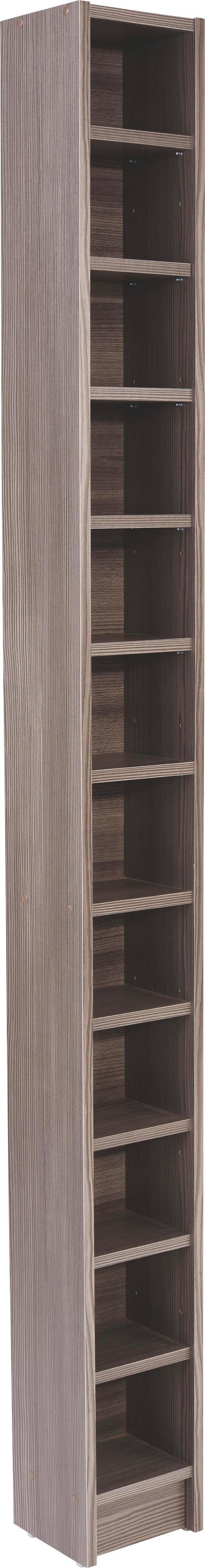 Cd Polc Felix - Sötétbarna, modern, Faalapú anyag (20/201,8/16,5cm)