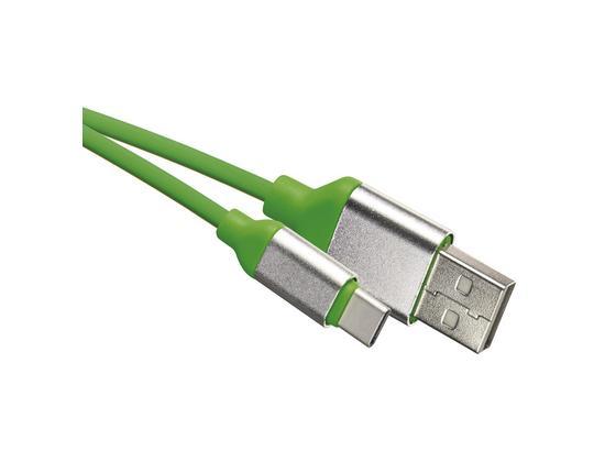Usb Nabíjací Kábel Sm7025g - zelená, Moderný, plast (8.5/13/2cm)