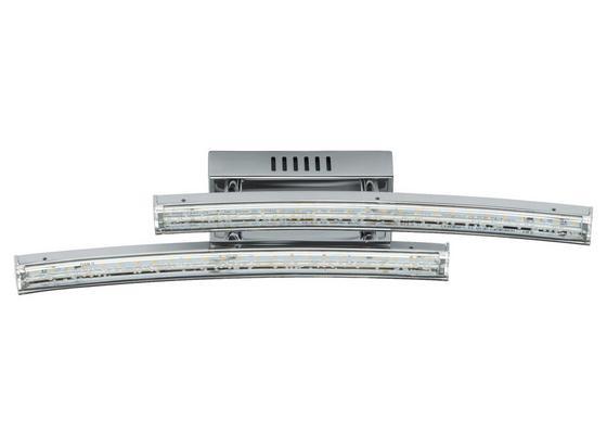 LED-Wandleuchte Pertini - Chromfarben/Transparent, MODERN, Kunststoff/Metall (33/6/7,5cm)