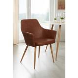 Stuhl Betty - Braun, MODERN, Textil/Metall (51/86/55cm) - OMBRA