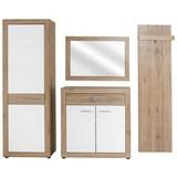 Garderobenkombination Malta San Remo 1 B:210cm - Eichefarben/Weiß, MODERN, Holzwerkstoff (210/197/36cm)