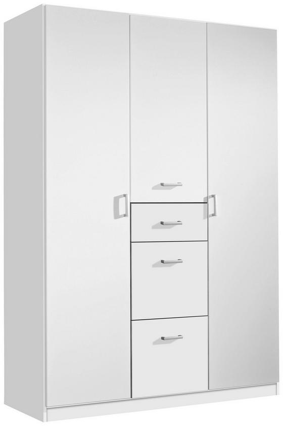Jugend-kombischrank Point 136 cm Weiß - Weiß, MODERN, Holzwerkstoff (136/197/54cm)