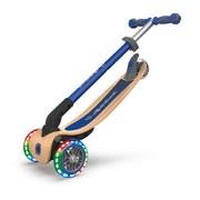 Scooter Globber Primo B: 56 cm Blau - Blau/Birkefarben, Basics, Holz/Kunststoff (56/77,5/28cm)