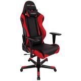 Gamingstuhl Dxracer Racing E4 Schwarz/Rot - Rot/Schwarz, MODERN, Kunststoff/Textil (67/122-132/67cm) - Dxracer