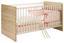 Gitterbett Wiki 70x140 Eiche Dekor/Weiß - Weiß/Sonoma Eiche, KONVENTIONELL, Holzwerkstoff (144/80/82cm)
