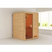 Sauna Lyon mit interner Steuerung am Ofen - Naturfarben, MODERN, Holz (146/198/146cm) - Karibu