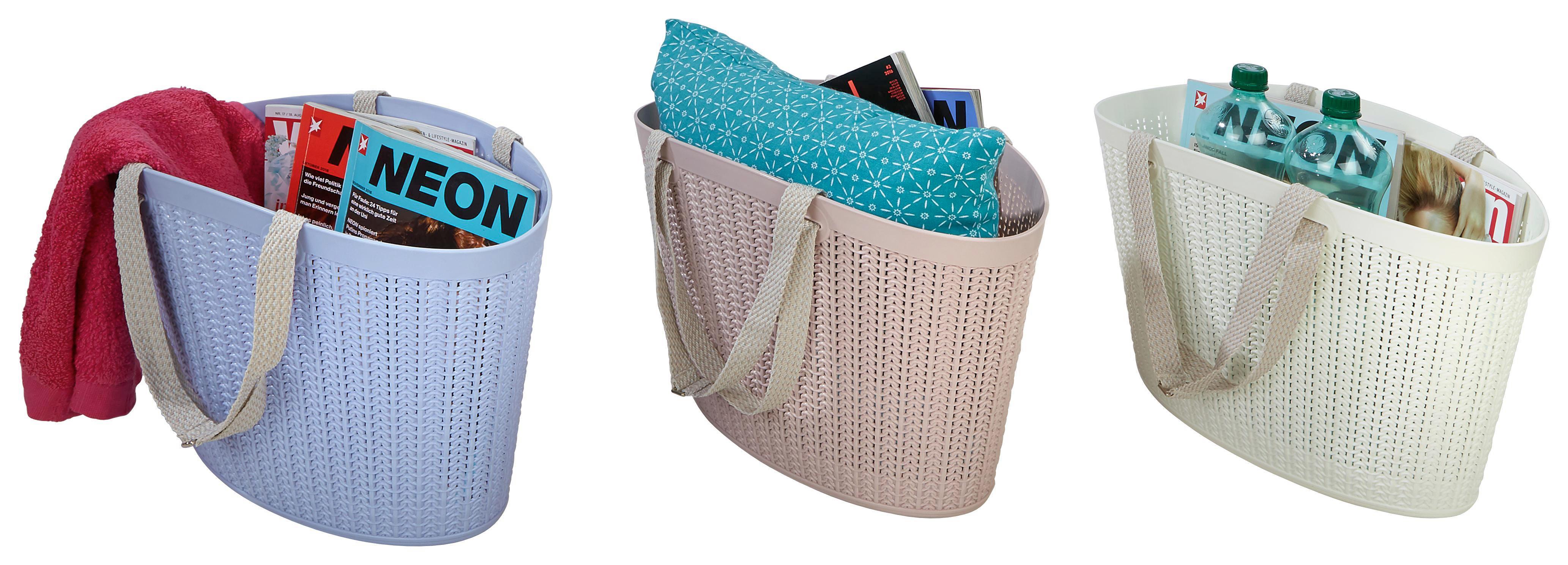 Bevásárlókosár Strick - rózsaszín/kék, műanyag (43/19,5/30cm) - JAMES WOOD