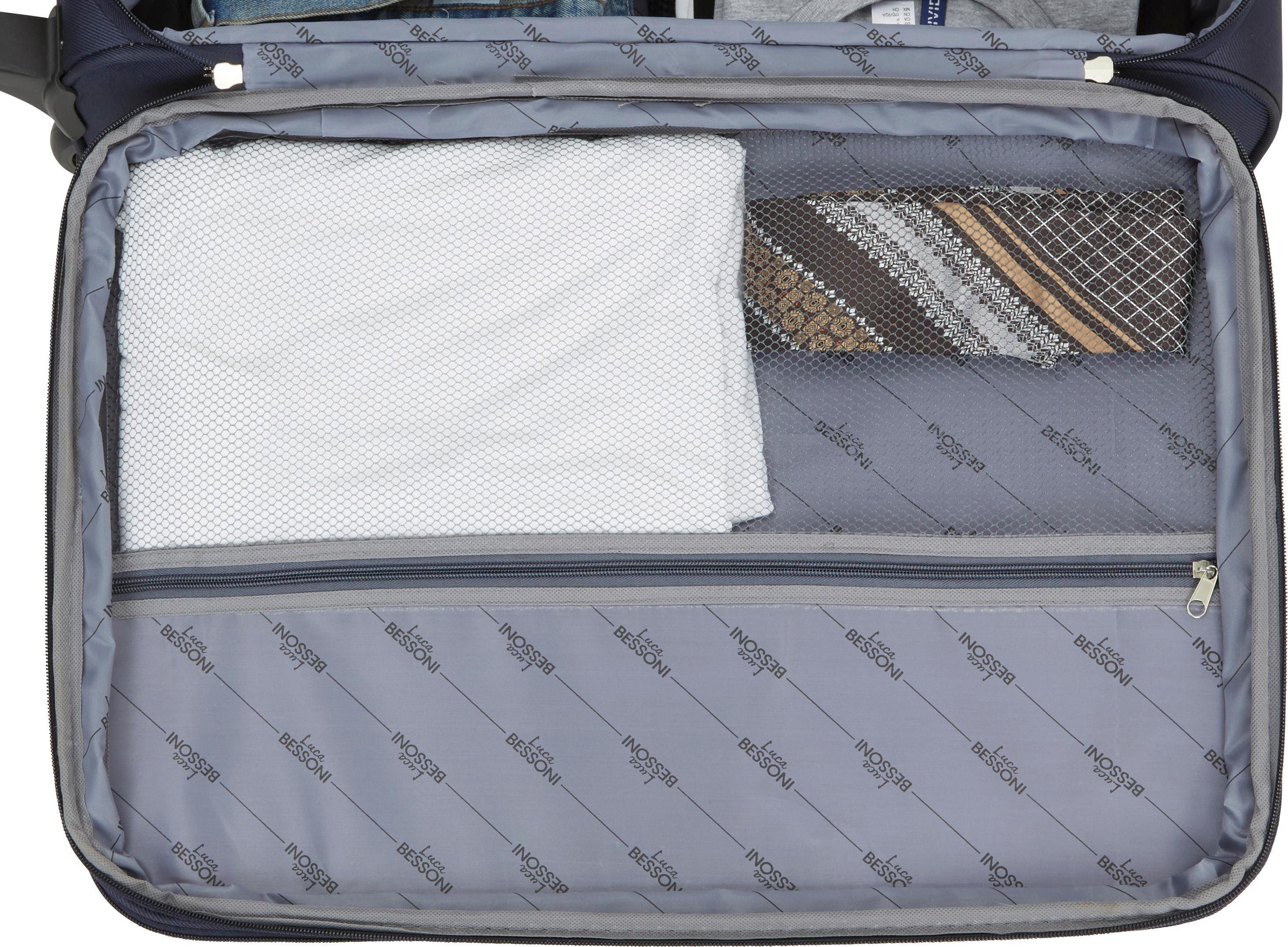 Reisekofferset Jesolo - Blau, KONVENTIONELL, Textil/Metall - LUCA BESSONI