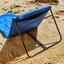 Strandmatte Ibiza - Blau/Schwarz, MODERN, Textil/Metall (70/45/95/200cm) - Ombra