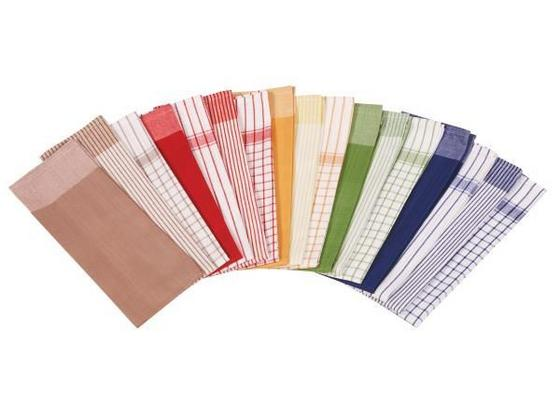 Geschirrtuch 8er-packung Frankfurt - Multicolor, KONVENTIONELL, Textil (50/70cm) - Ombra