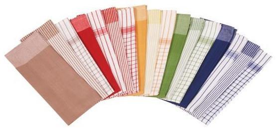 Geschirrtuch 8er-packung Frankfurt - Multicolor, KONVENTIONELL, Textil (50/70cm)