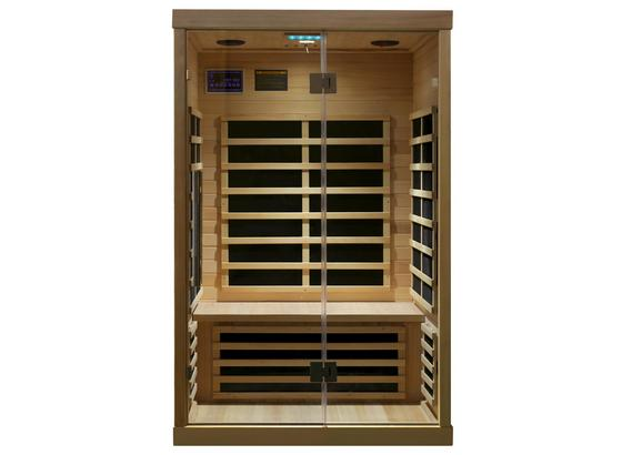 Infrarotkabine Hemlock II Mbx - Naturfarben, MODERN, Glas/Holz (120/105/190cm)