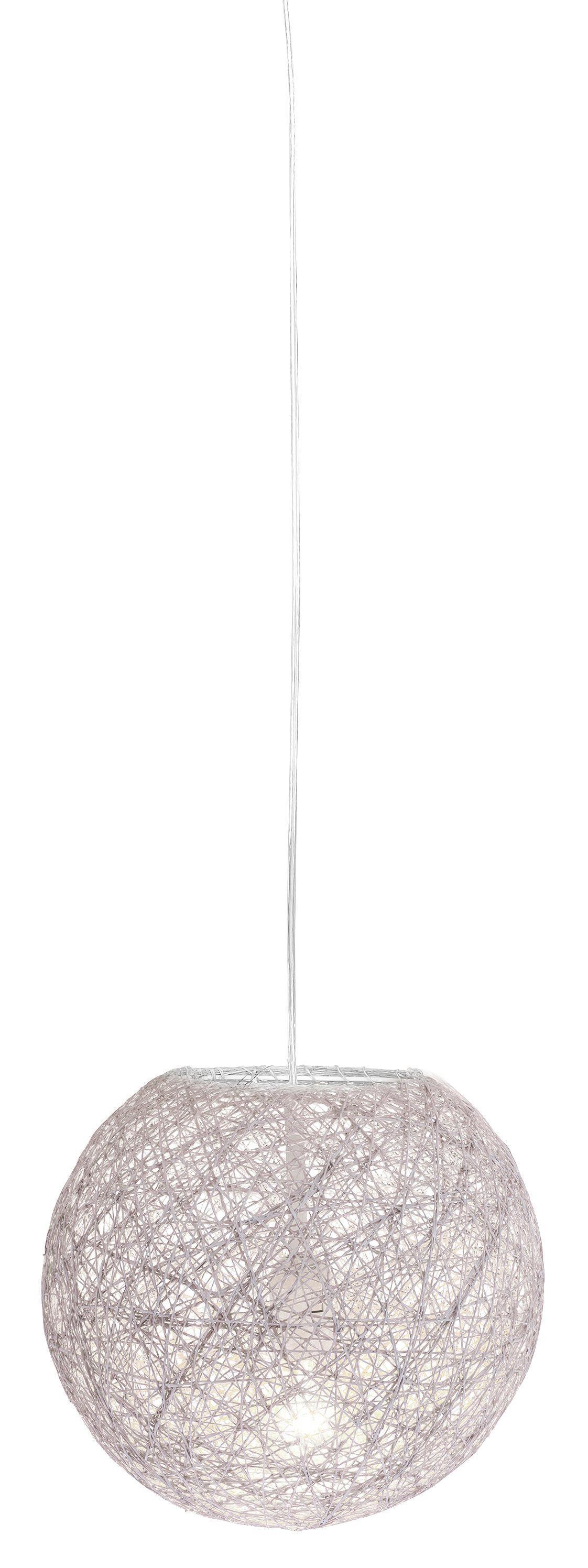 Závesná Lampa Sophia - biela, Štýlový, ďalšie prírodné materiály (30cm) - MÖMAX modern living