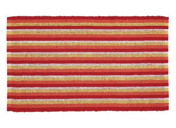 Vorleger Streak 50x80 cm - Blau/Pink, KONVENTIONELL, Textil (50/80cm) - Homezone