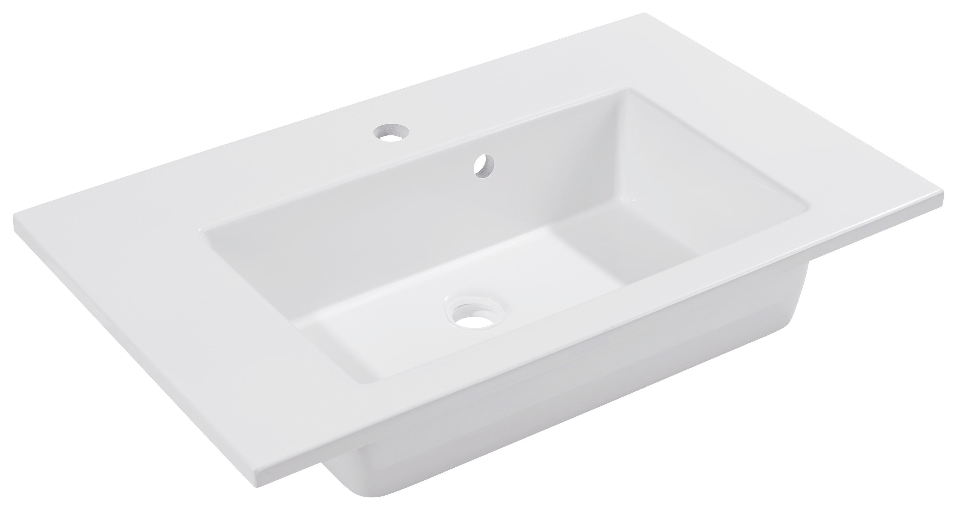 Mosdó Denia - fehér, modern, kerámia (75/16/46cm)