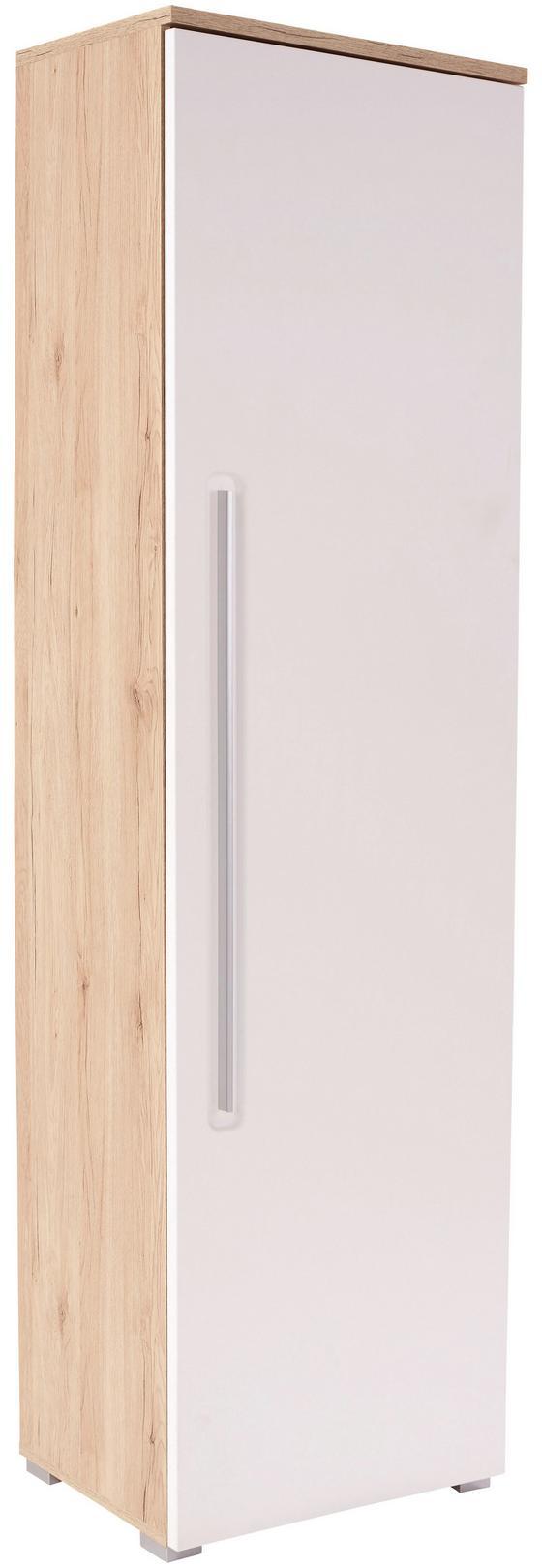 Szekrény Livorno New - tölgy színű/fehér, konvencionális, faanyagok (60/201/38cm)