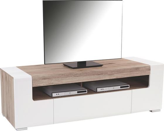 Tv Díl Toronto - bílá/barvy dubu, Moderní, dřevěný materiál (190/53/45,2cm) - Ombra