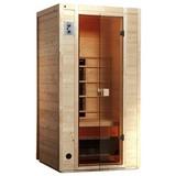 Infrarotkabine 1 Person 102x196x100cm Vaala - Fichtefarben, MODERN, Glas/Holz (102/196/100cm)