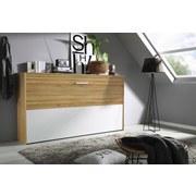 Klappbett Albero 90x200 cm Eichefarben - Eichefarben/Weiß, Design, Holzwerkstoff (90/200cm) - Carryhome