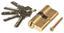 Türzylinder Gold - Goldfarben, KONVENTIONELL, Metall (7cm)