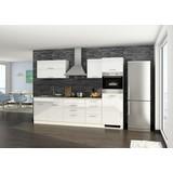 Küchenblock Mailand B: 290 cm Weiß - Eichefarben/Weiß, Basics, Holzwerkstoff (290cm) - MID.YOU