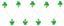 Svetelná Reťaz Birthday - zelená/číre, umelá hmota (195cm)