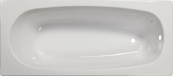 Badewanne Linea 160 - Weiß, KONVENTIONELL, Kunststoff (160/70/41cm)