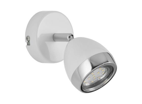 Bodové Svetlo Nantes - biela/chrómová, Štýlový, kov/plast (12,5/14cm) - Mömax modern living