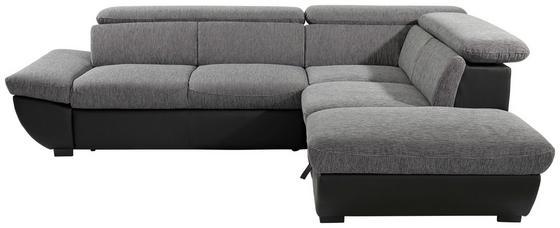 Sedacia Súprava Chance - čierna/sivá, Moderný, textil (270/228cm)