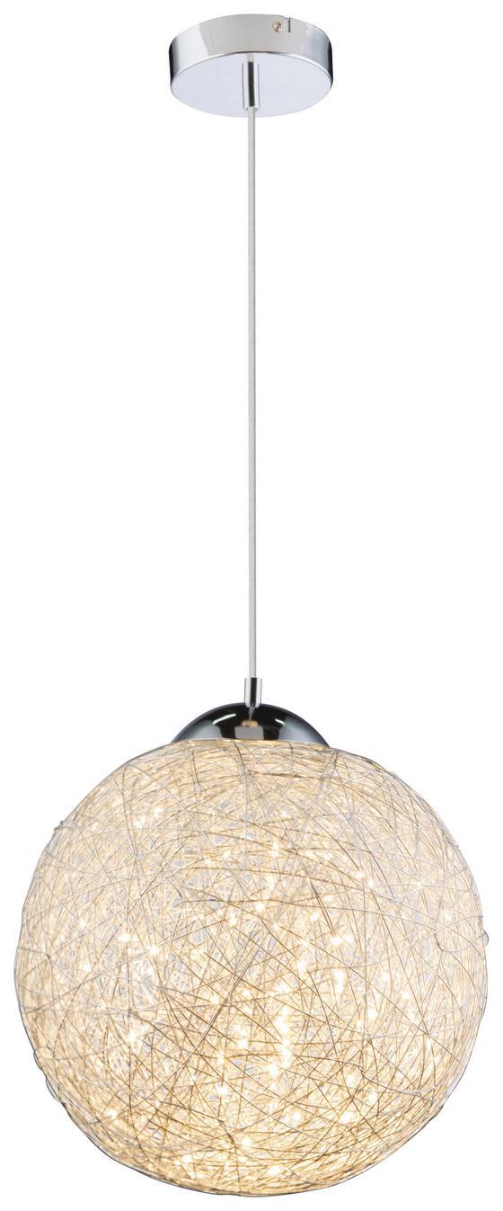 LED-hängeleuchte Tuza Ø 30 cm - Chromfarben, MODERN, Metall (30/150cm)