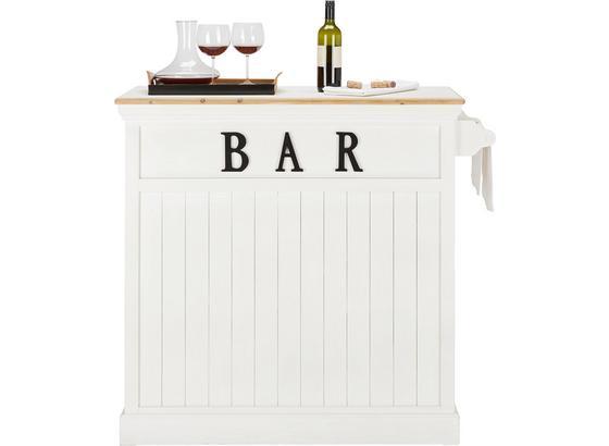 Barový Stůl Remy - bílá, Romantický / Rustikální, dřevo (106/110,5/45,5cm)