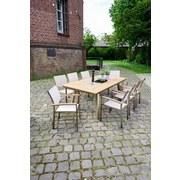 Greemotion Gartenset Locarno 7-teilig mit Aufbewahrungsbox - Silberfarben/Braun, MODERN, Kunststoff/Textil - Greemotion
