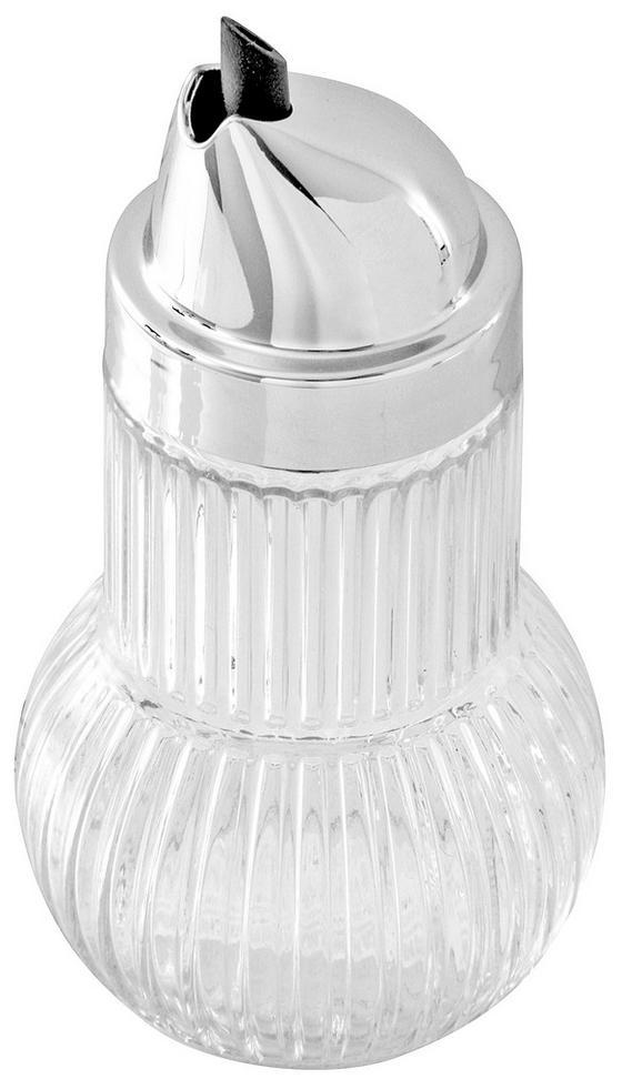 Allzweckgießer Fackelmann - Klar/Silberfarben, KONVENTIONELL, Glas/Metall (13.2cm) - Homeware