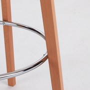 Barový Stůl Levi - bílá/přírodní barvy, Moderní, kov/dřevo (60/110cm) - Ombra
