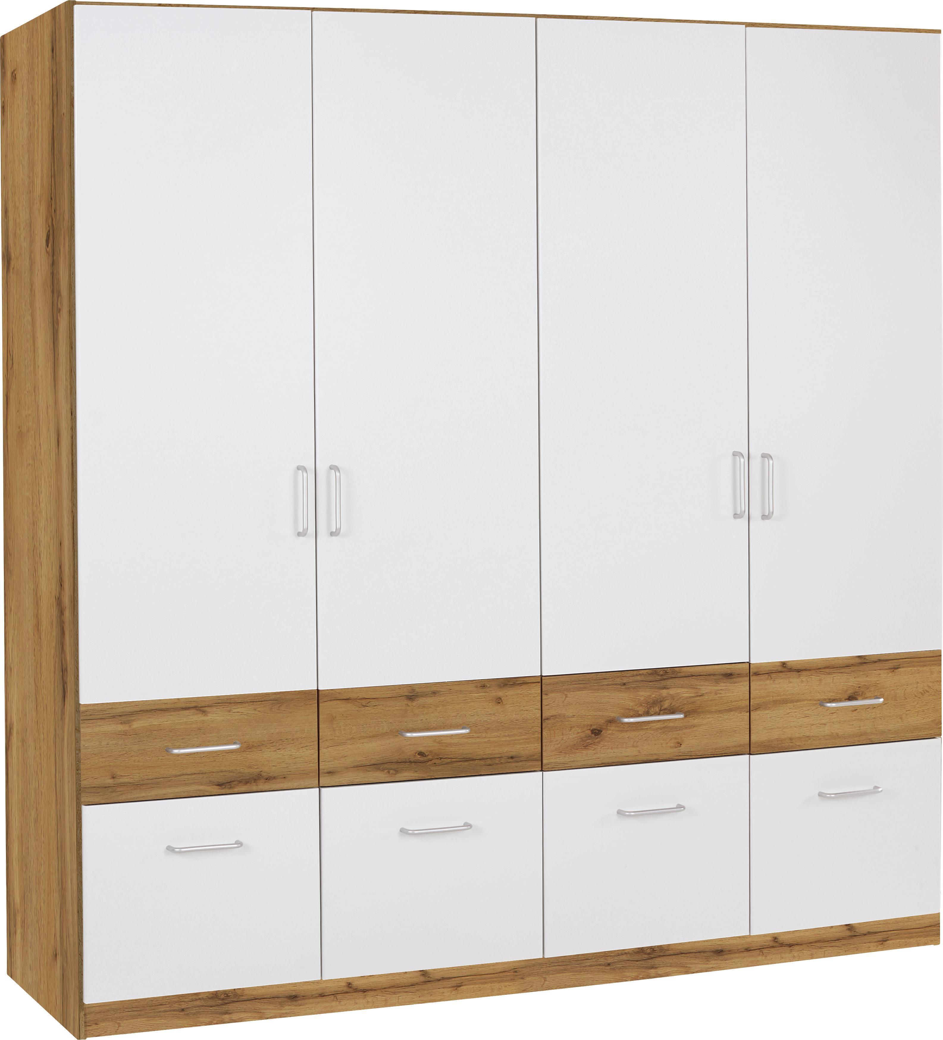 kleiderschrank aalen extra b 181cm wei eiche wotan dekor. Black Bedroom Furniture Sets. Home Design Ideas