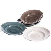Pastatellerset 4-Tlg. Derby - Blau/Beige, Basics, Keramik (40/30/20cm)