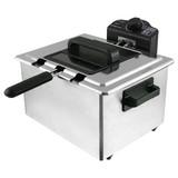 Fritteuse Emerio Df-107090 - Alufarben/Schwarz, MODERN, Kunststoff/Metall (38/26/35cm)