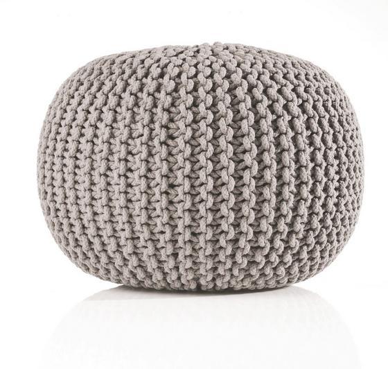 Sedák Aline - šedá, textil (55/35cm) - PREMIUM LIVING