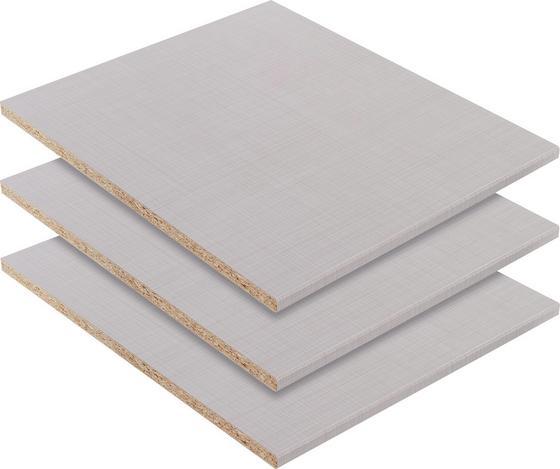 Belső Polc Katrin/chalet, 3er-set - Szürke, konvencionális, Faalapú anyag (43/2/50cm)